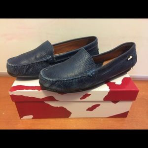 Other - Venettini Leather driving shoes loafers navy